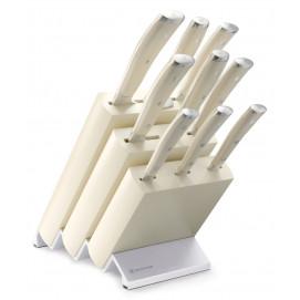 Bloc couteaux avec 9 pièces Classic Ikon blanc